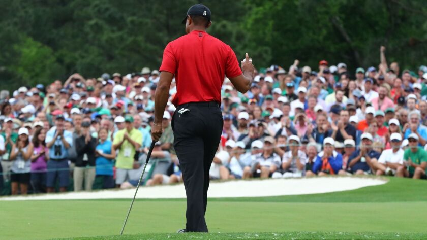 Tiger Woods wins first Masters since 2005, notching 15th major victory