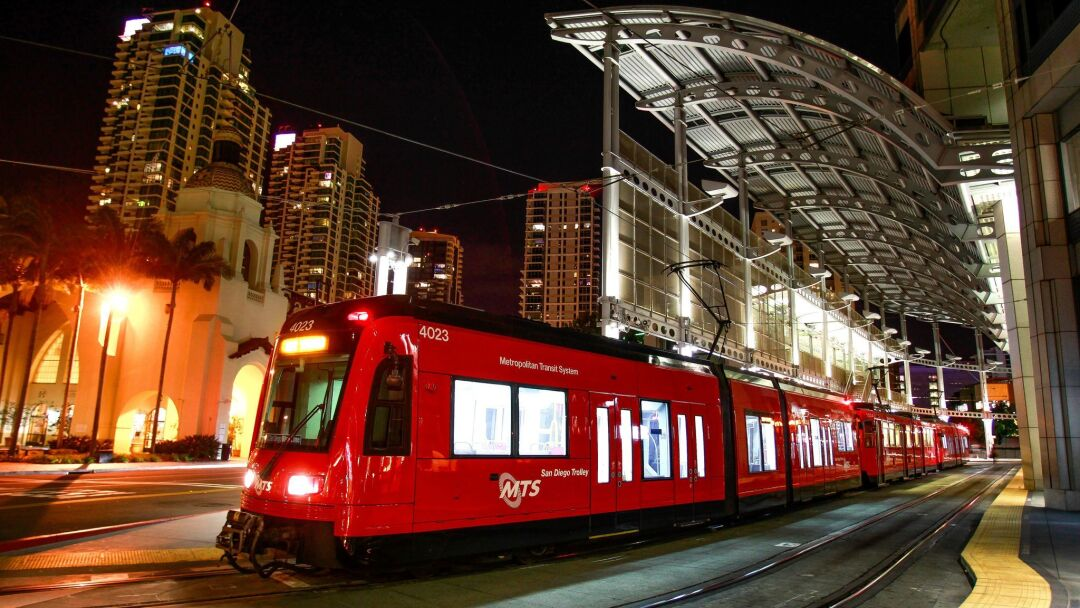 Tax revenue collected by SANDAG is used, among other things, to expand the region's trolley system.