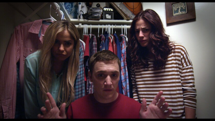 """Chauntal Lewis, left, Kyle Gallner and Olivia Thirlby star in """"Welcome to Happiness."""""""