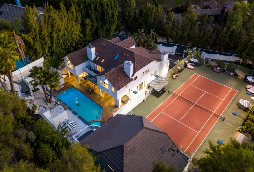A Hamptons-style home in Encino was once owned by Marlon Jackson.