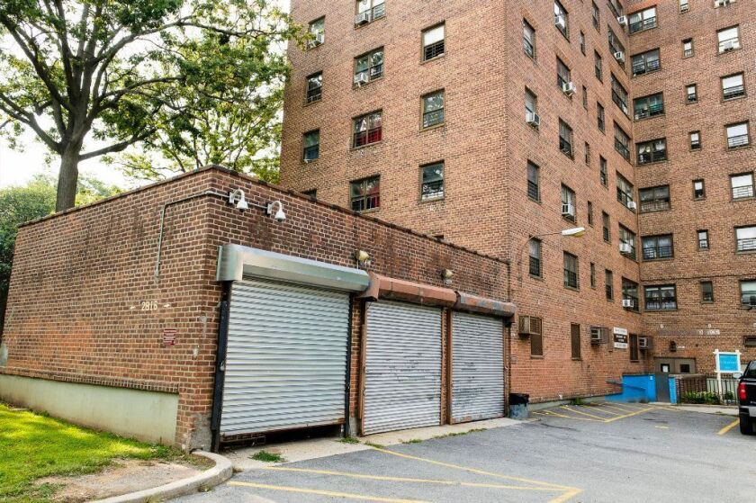 The maintenance department facility at the Throggs Neck Houses is one of the locations where NYCHA employees allegedly engaged in booze-fueled sex parties while on duty, Monday Aug. 27, 2018.