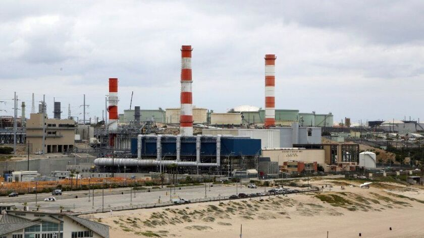 The DWP's natural-gas-powered Scattergood Generating Station in Playa del Rey.
