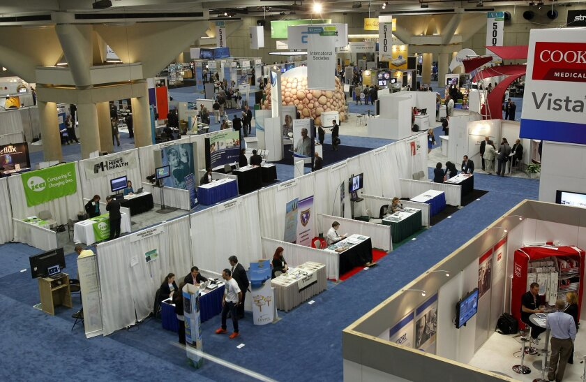 The American Urological Association, in town this week, is one of the larger medical conventions that comes to the San Diego Convention Center, attracting 18,000 people.