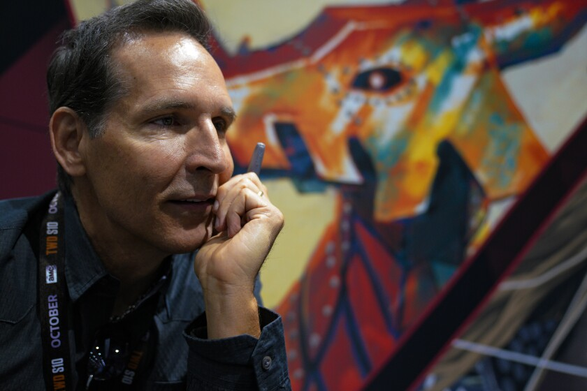 Todd McFarlane, the creator of Spawn and the artist behind Venom, spoke with a news reporters on Thursday at Comic-Con International.