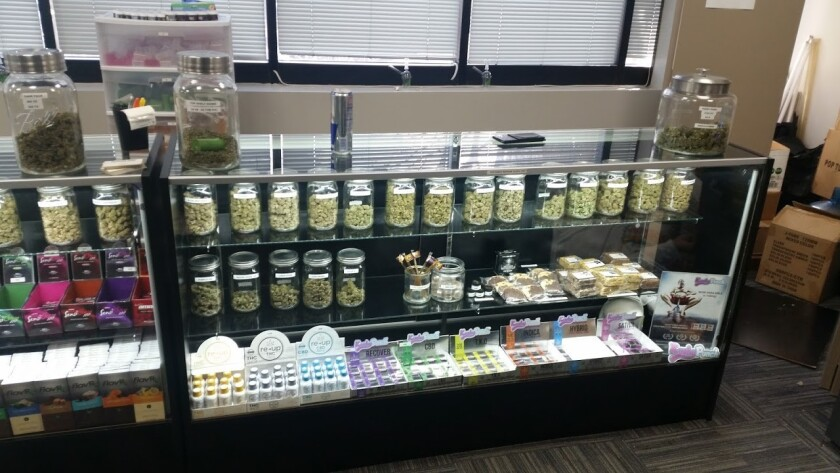 Marijuana products at Dank of America. San Diego police served a search warrant at the an unlicensed pot dispensary in Miramar on Thursday.
