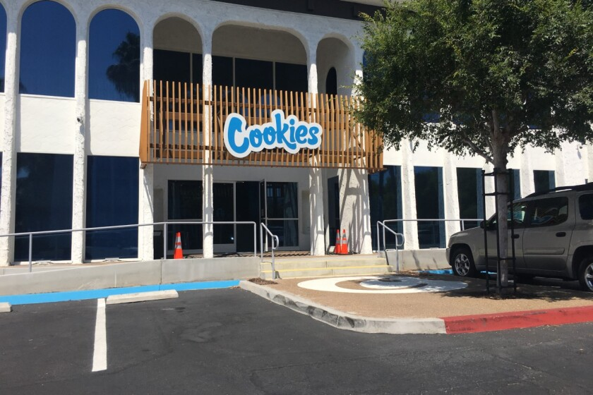 The Cookies cannabis dispensary in Mission Valley.