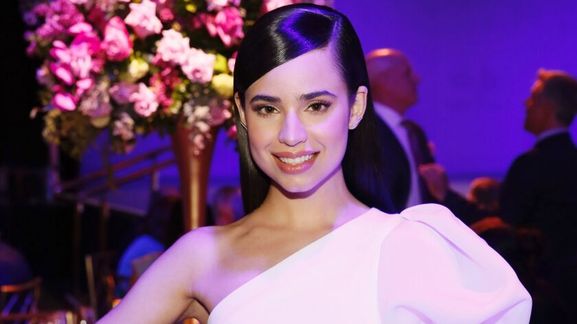 Sofia Carson is among the guests who attended the Los Angeles Ballet Gala in Beverly Hills.