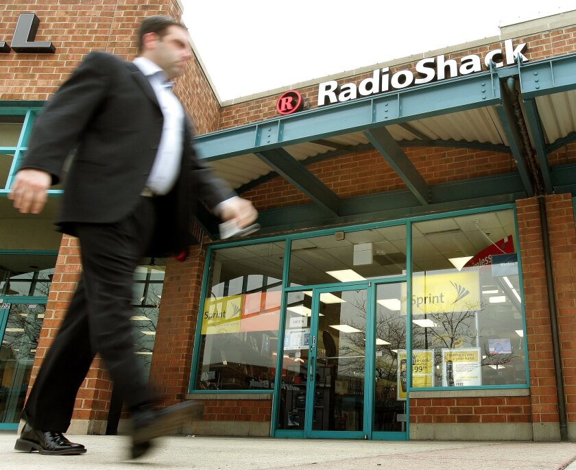 RadioShack said its chief executive of less than a year and a half, James Gooch, will step down.