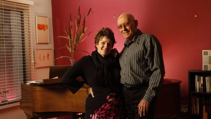 Esteemed pianist Mike Wofford (right) and his wife, noted jazz flutist Holly Hofmann, are frequent musical partners.