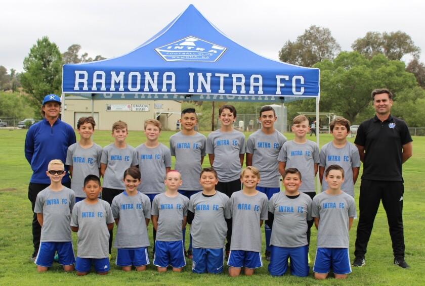 The Ramona INTRA Boys 2009 club soccer team won the Presidio League with an 8-2 record.