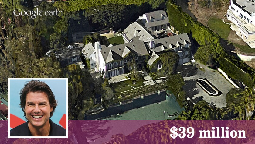 Movie star Tom Cruise has sold his Beverly Hills estate to financier Leon Black for $39 million.