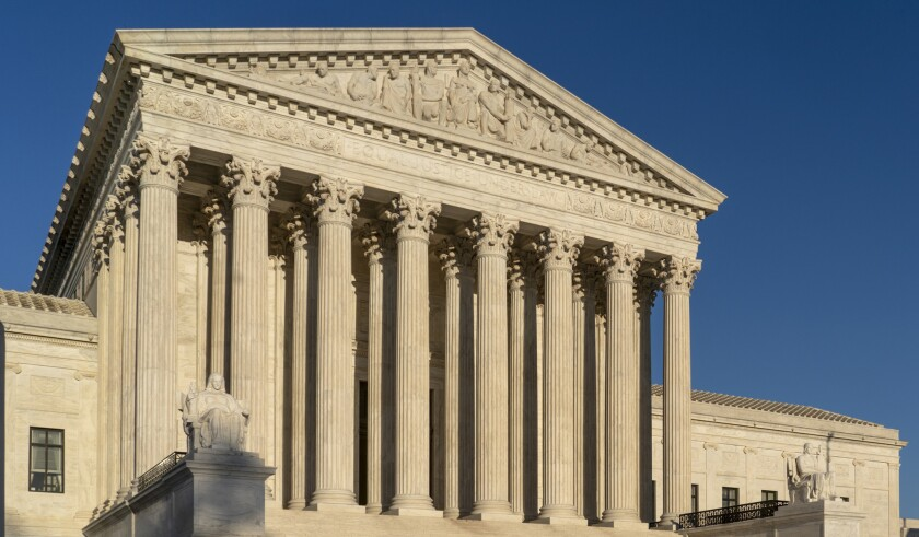 The Supreme Court is seen April 20 in Washington, D.C.