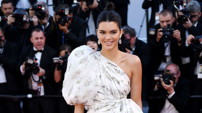 """Kendall Jenner in Giambattista Valli at the premiere of """"120 Beats Per Minute."""""""