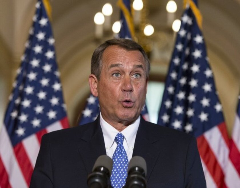 """House Speaker John A. Boehner: """"What, me worry?"""" If he doesn't, you should."""