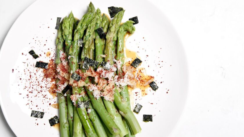 LOS ANGELES, CA-April 2, 2019: Asparagus on Tuesday, April 2, 2019. (Mariah Tauger / Los Angeles T