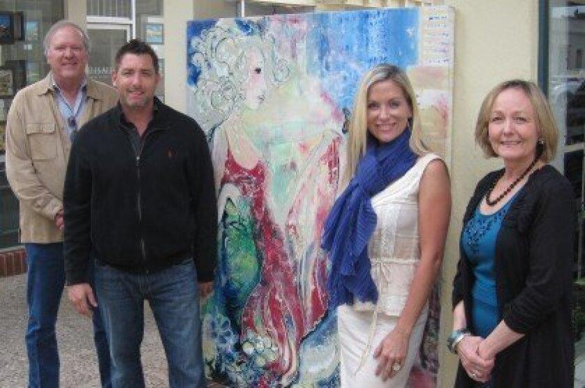 Steve Brower, Todd Krasovetz, painting by Todd, Kourtney Krasovetz, and Coleen Freeman.