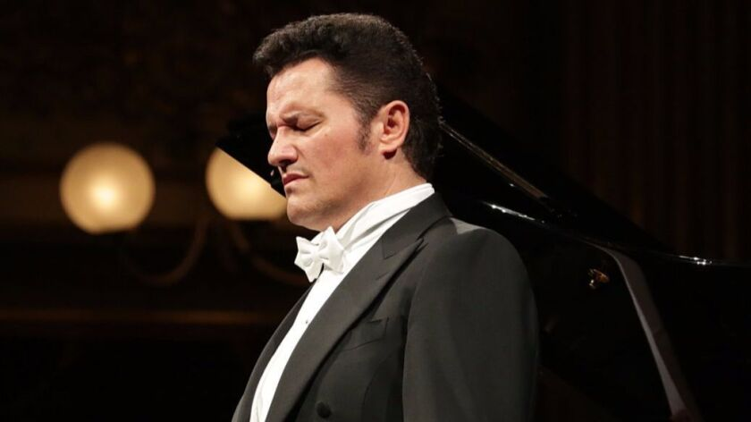 Polish-born tenor Piotr Beczala performed a sold-out recital Saturday at the Balboa Theatre. Here, he's pictured in recital at Milan's La Scala opera house.