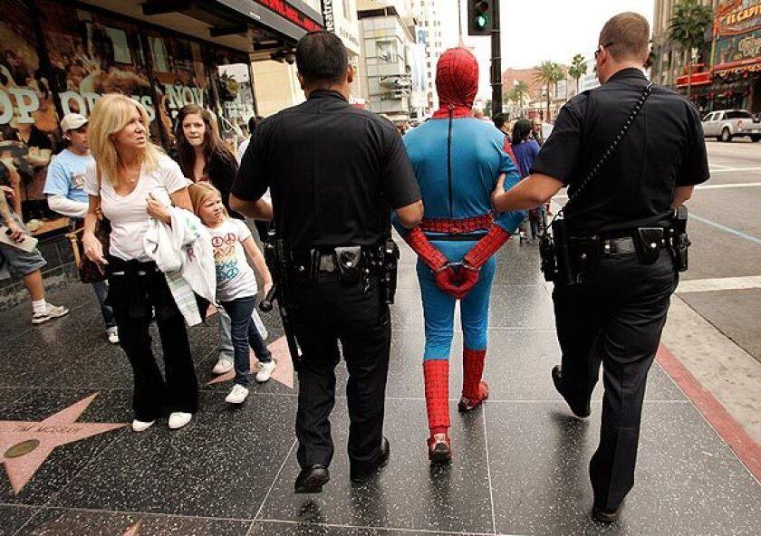 Spider-Man impersonator arrested