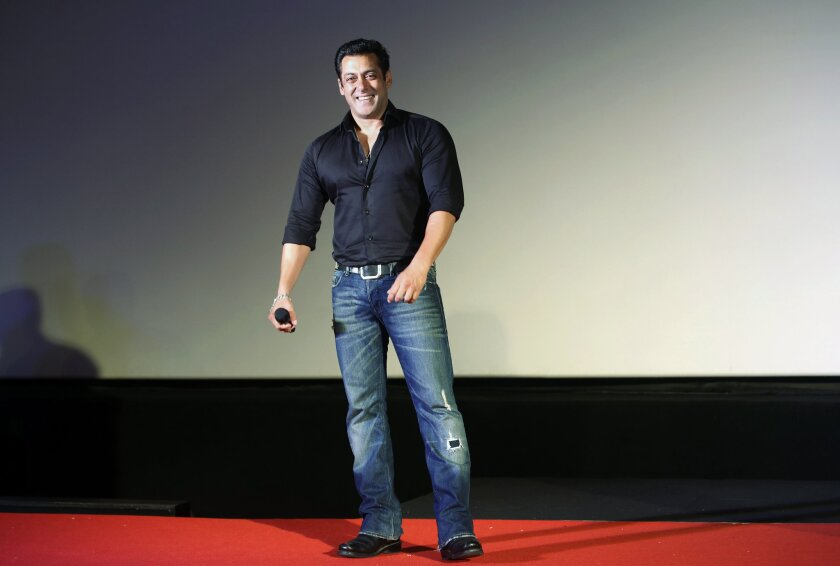 Indian actor Salman Khan, shown in a July 15, 2015, file photo, was acquitted of using unlicensed arms while hunting in northwestern India 18 years ago.