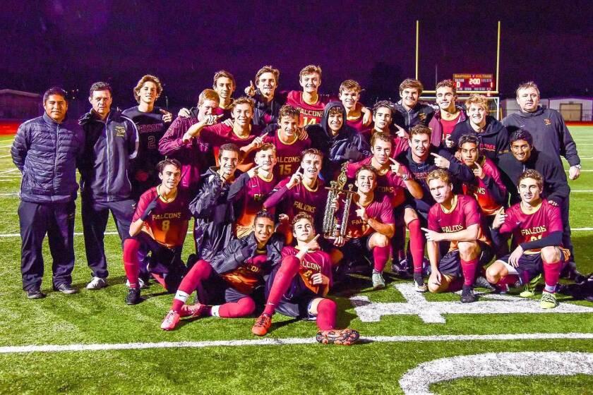 Torrey Pines High School boys varsity soccer team
