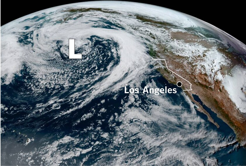 A deep low-pressure system in the Pacific promises late-season rain for Northern California.