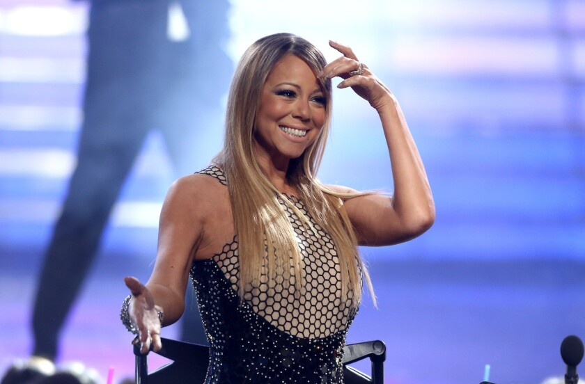 """Mariah Carey at the """"American Idol"""" finale at the Nokia Theatre at L.A. Live in Los Angeles."""