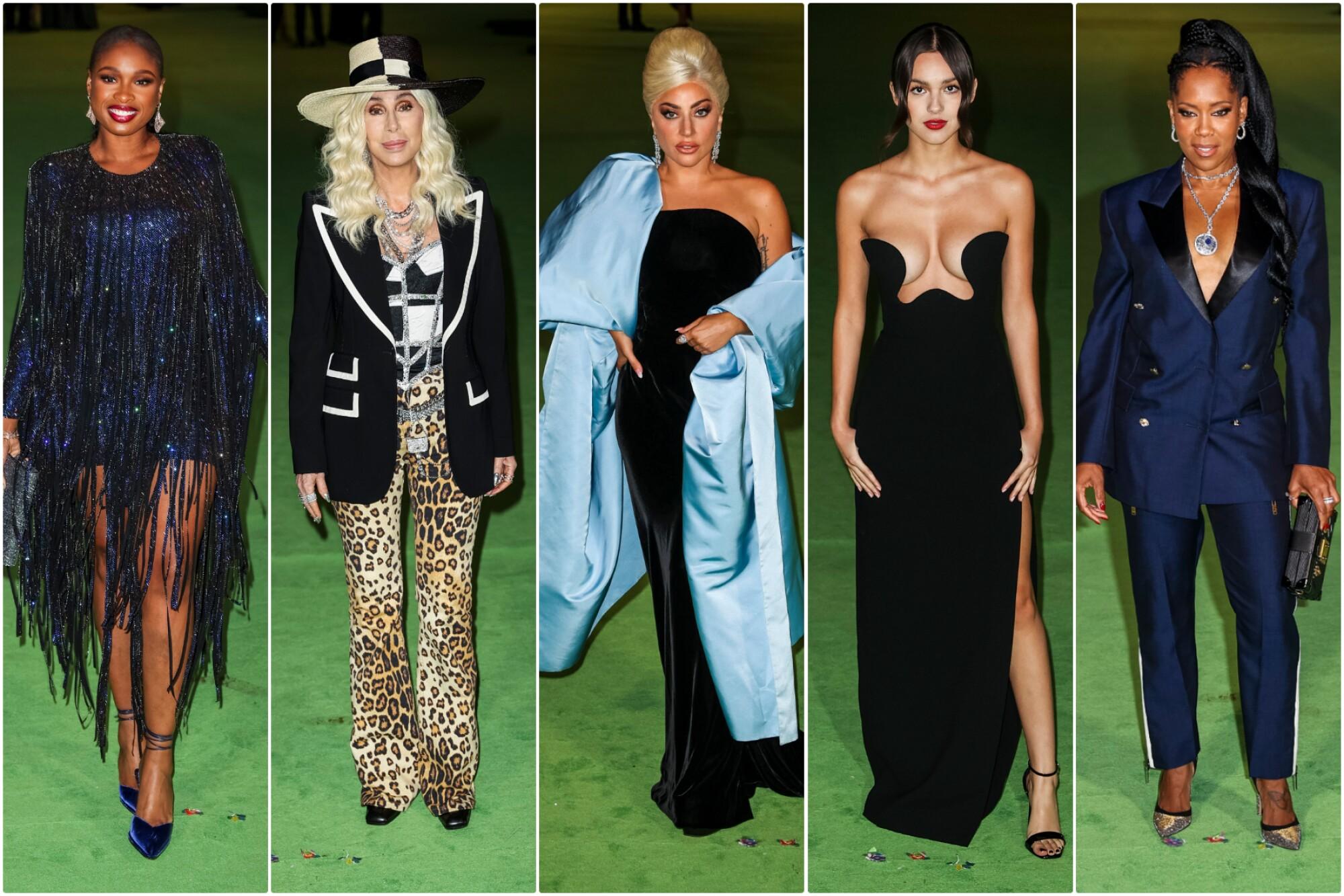 Jennifer Hudson, Cher, Lady Gaga, Olivia Rodfrigo and Regina King