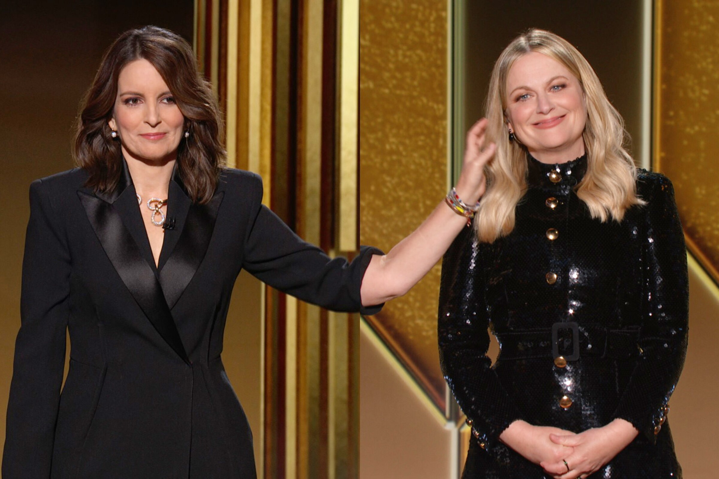 Hosts, Tina Fey and Amy Poehler at the 78th Annual Golden Globe Awards on February 28, 2021.