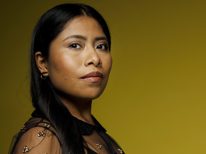 "Oscar-nominated actress Yalitza Aparicio, the breakout star of the Alfonso Cuaron film ""Roma."""