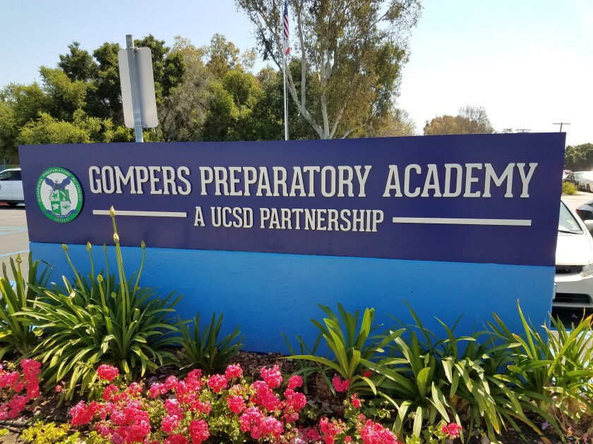 Gompers Preparatory Academy charter school partners UCSD allowing students to complete a bachelor's degree and teaching credential within two years.