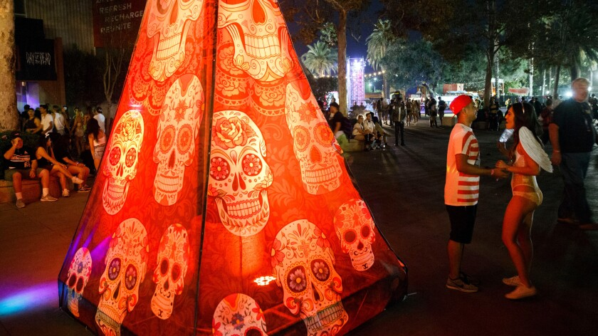 The Hard Day of the Dead rave on Oct. 31, 2015 at the L.A. County Fairgrounds in Pomona.