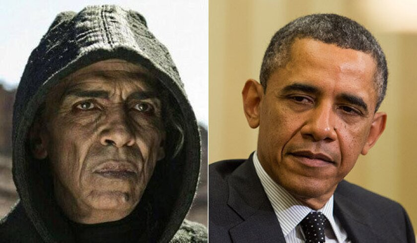 """Some viewers of """"The Bible"""" have remarked on the resemblance between Moroccan actor Mehdi Ouzaani and President Obama."""