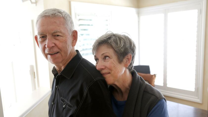 """Sarah Davis says it helps to remember that """"it's the disease, not him."""" Her husband, Buz, was diagnosed with Alzheimer's last year."""