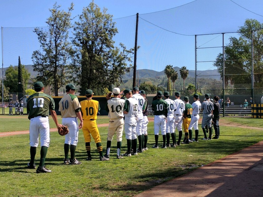 Royal honored the late Jesse Esphorst Jr. of South Torrance by having each player wear No. 10.
