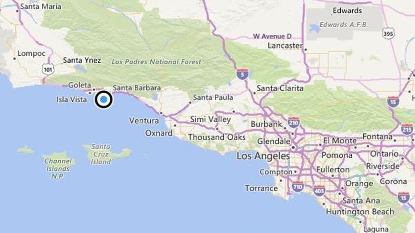 Earthquake: 3.1 quake strikes near Santa Barbara, Calif.