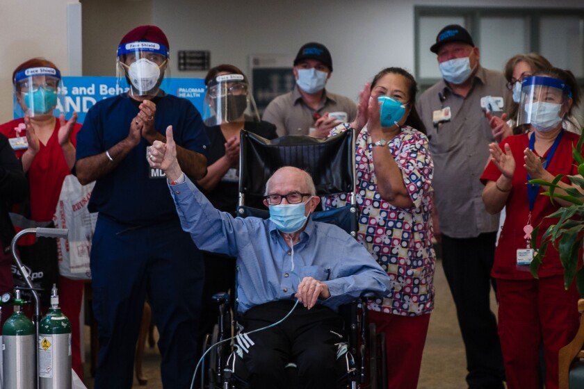 Richard Marshalls wheeled out after being discharged from a skilled nursing facility.