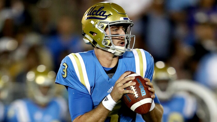 premium selection f4bf0 ac455 Josh Rosen's mantra aims to keep UCLA offense in gear - Los ...