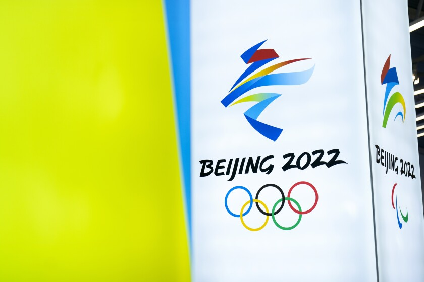 The logo for the 2022 Winter Olympic Games in Beijing.