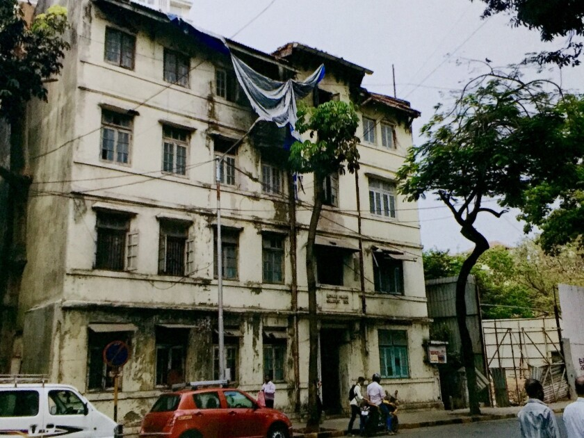 The now-demolished Mumbai building owned by the Pathare Prabhu trust, shown in this undated photograph, was intended to be the site of a Trump Tower.