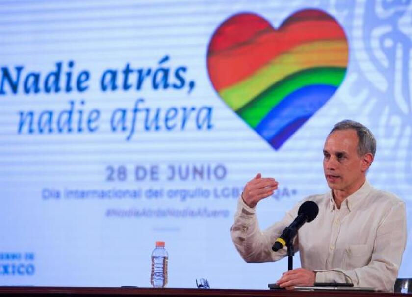 Fotografía cedida por la Presidencia de México, del subsecretario de Prevención y Promoción de la Salud, Hugo López-Gatell,