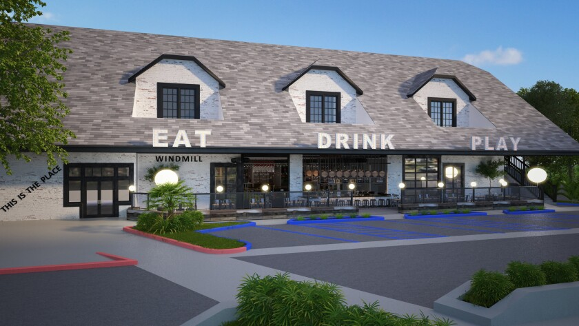 Windmill Food Hall planned for iconic Carlsbad building