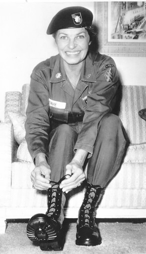 Martha Raye, in 1966 preparing to leave for a third entertainment tour of Vietnam, received a Jean Hersholt Humanitarian Award for her service to the troops.