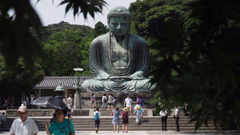 The bronze Great Buddha of Kamakura is Japan's second-largest Buddha statue.