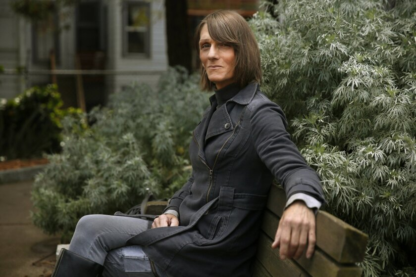 In this March 19, 2016 photo, Michelle-Lael Norsworthy poses for a portrait in a park in San Francisco. Norsworthy, a transgender inmate who was paroled after a judge ordered California to pay for her sex reassignment surgery, is making plans to have the surgery on her own this summer through coverage provided by the state's low-income health insurance program.(Leah Mills/San Francisco Chronicle via AP) MANDATORY CREDIT TV OUT NO SALES(/San Francisco Chronicle via AP) MANDATORY CREDIT PHOTOG & CHRONICLE; MAGS OUT; NO SALES