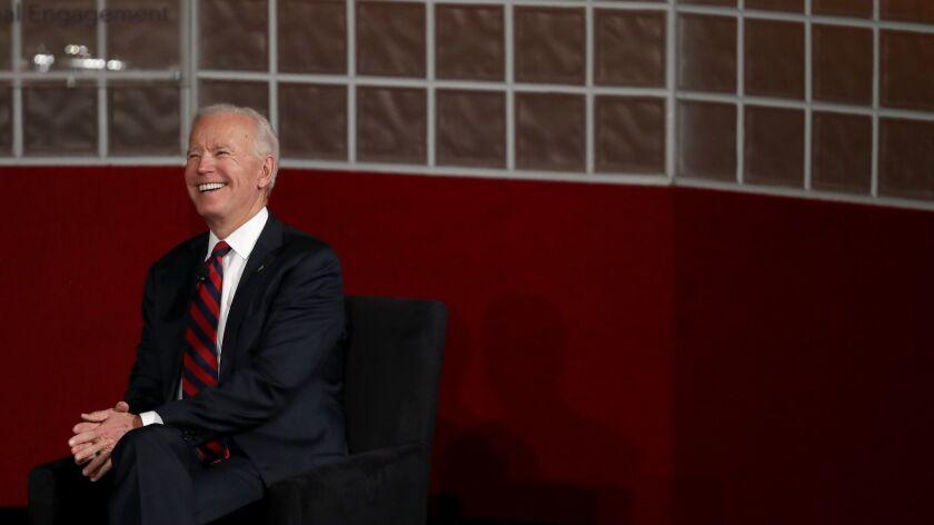 Joe Biden speaks at the University of Pennsylvania in Philadelphia, Penn. on Feb. 19.