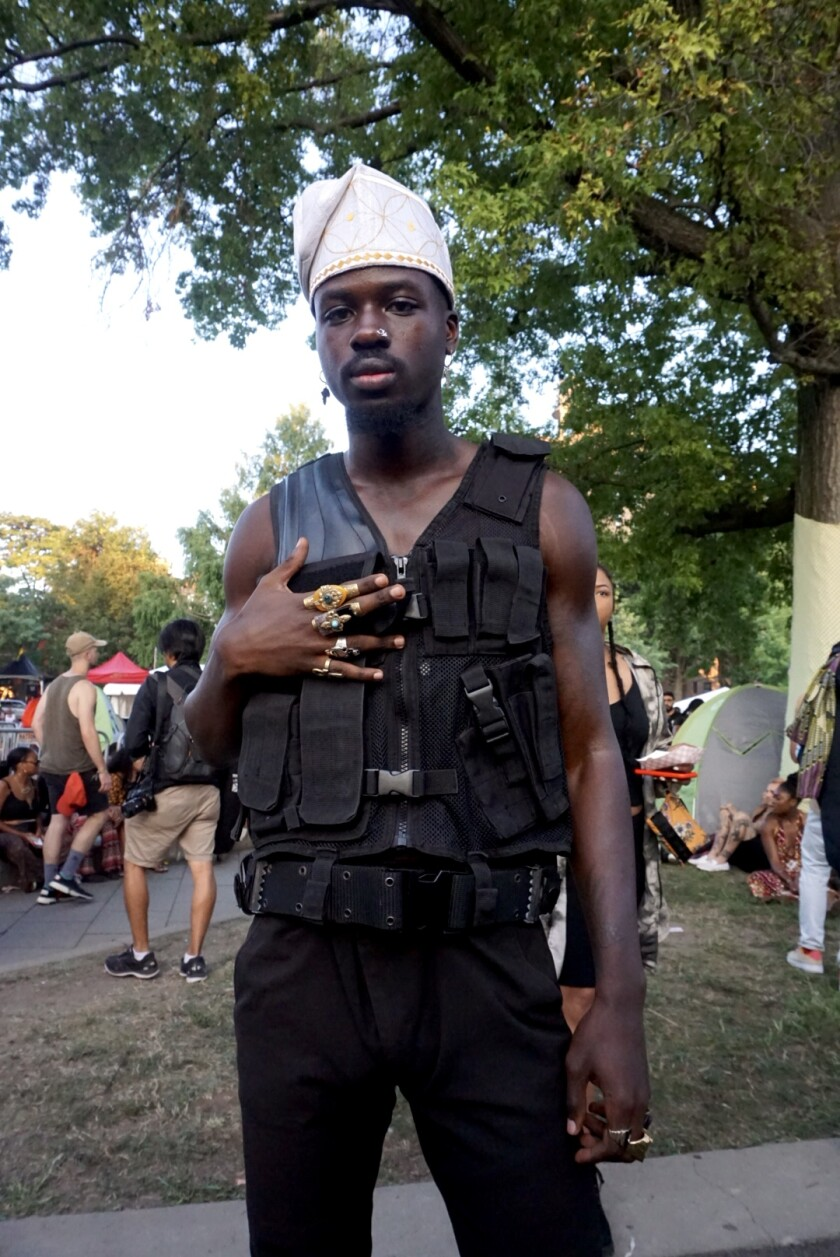 Denis Haze at Afropunk in Brooklyn, N.Y.