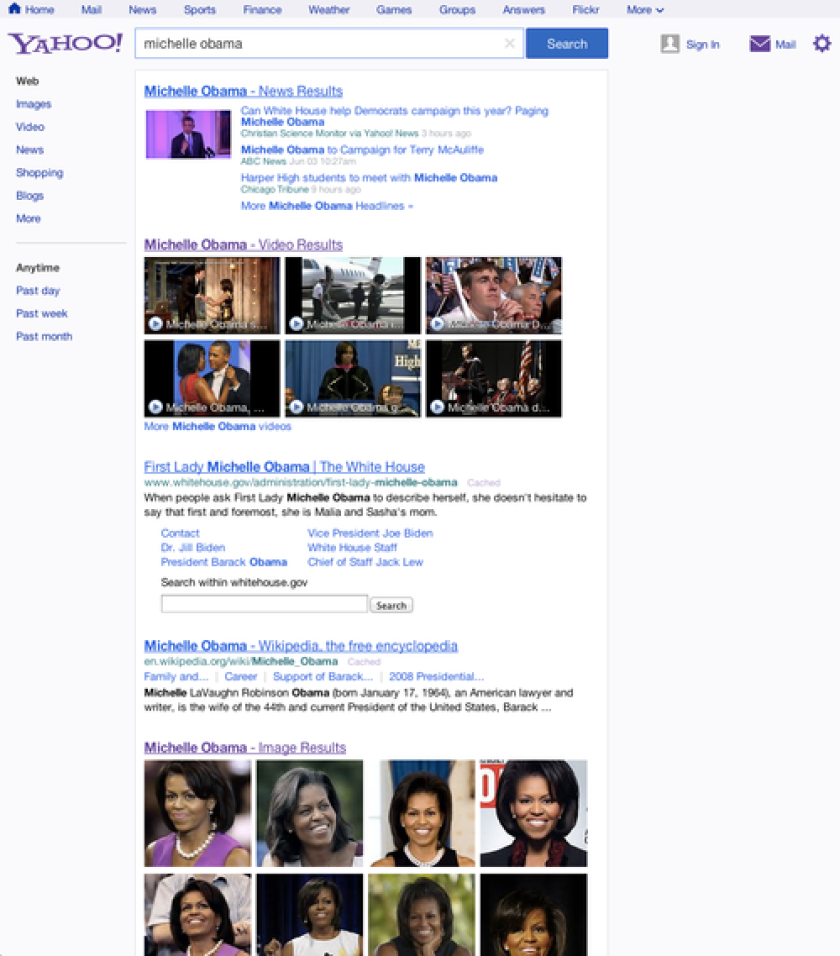 Yahoo gave its search tool a facelift Wednesday.