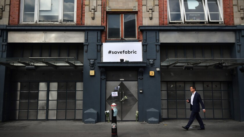 Famed London club Fabric recently had its license revoked.