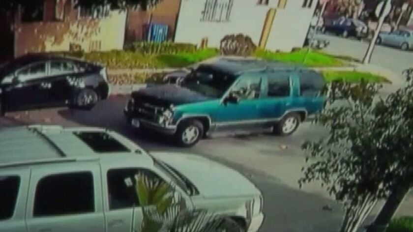 A surveillance camera captured an image of the SUV suspected of crashing into a 5-year-old boy and fleeing the scene.