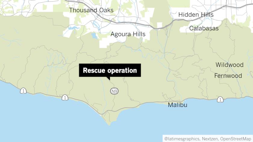 Map showing Malibu Hills